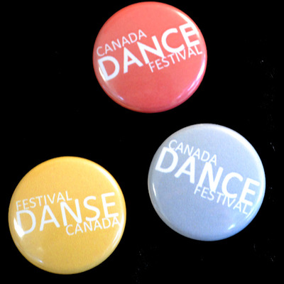 Canada dance festival buttons