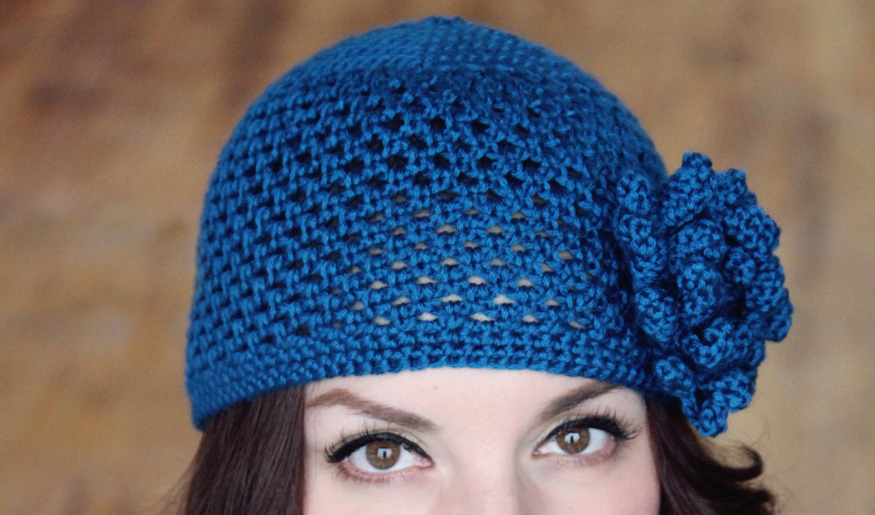 CROCHET PATTERN Hat Cloche with Flower The Veronica ...