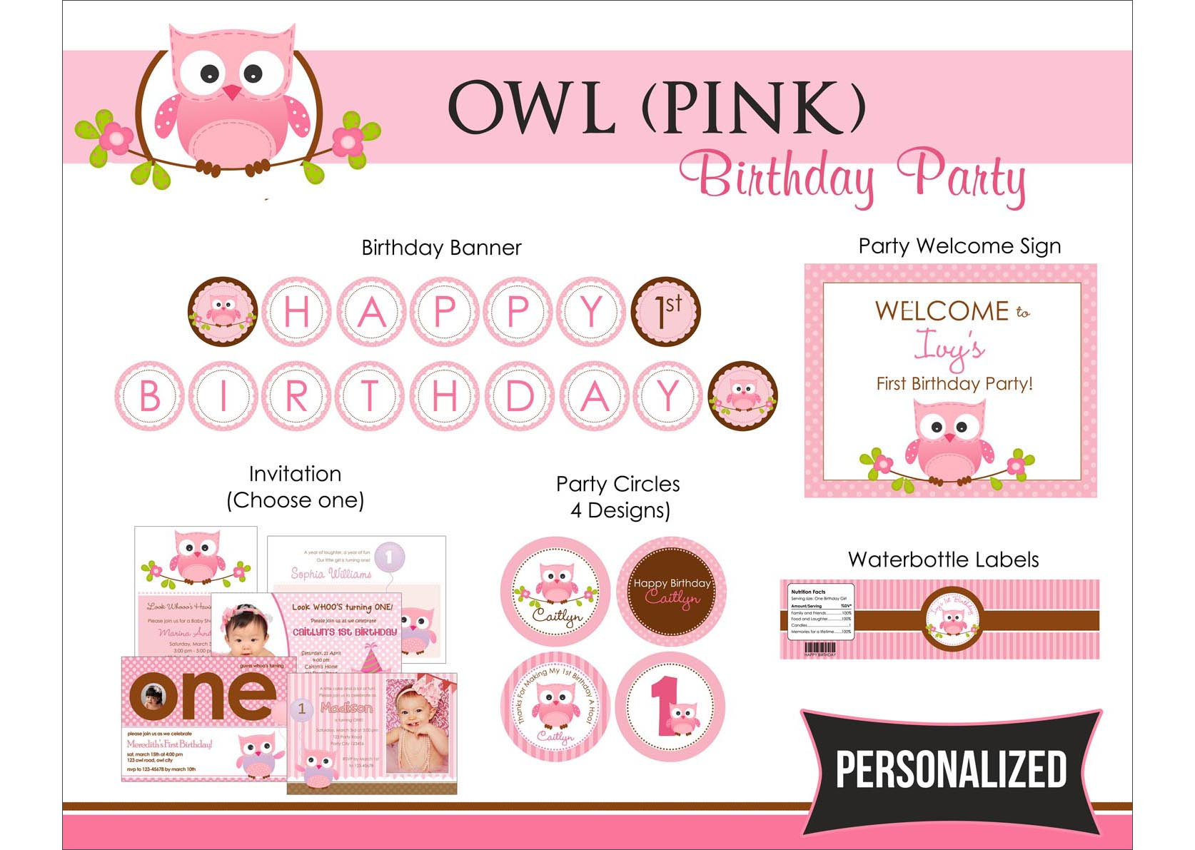 Owl 1st Birthday Party - for Girls ~ CallaChic