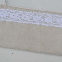 Linen & Lace Zippered Pouch(SALE)