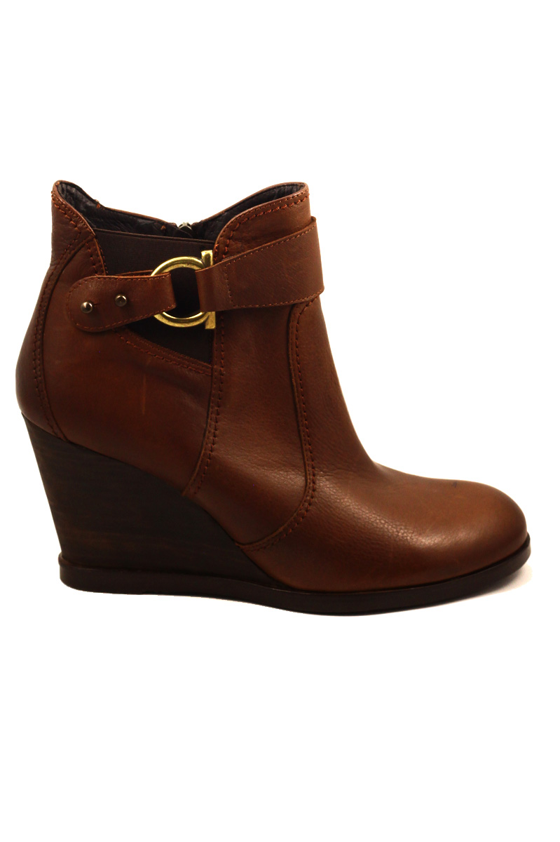 cressy ankle wedge boot leather brown 183 the whyte house