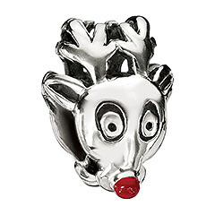 rudolf the nosed reindeer chamilia sterling silver