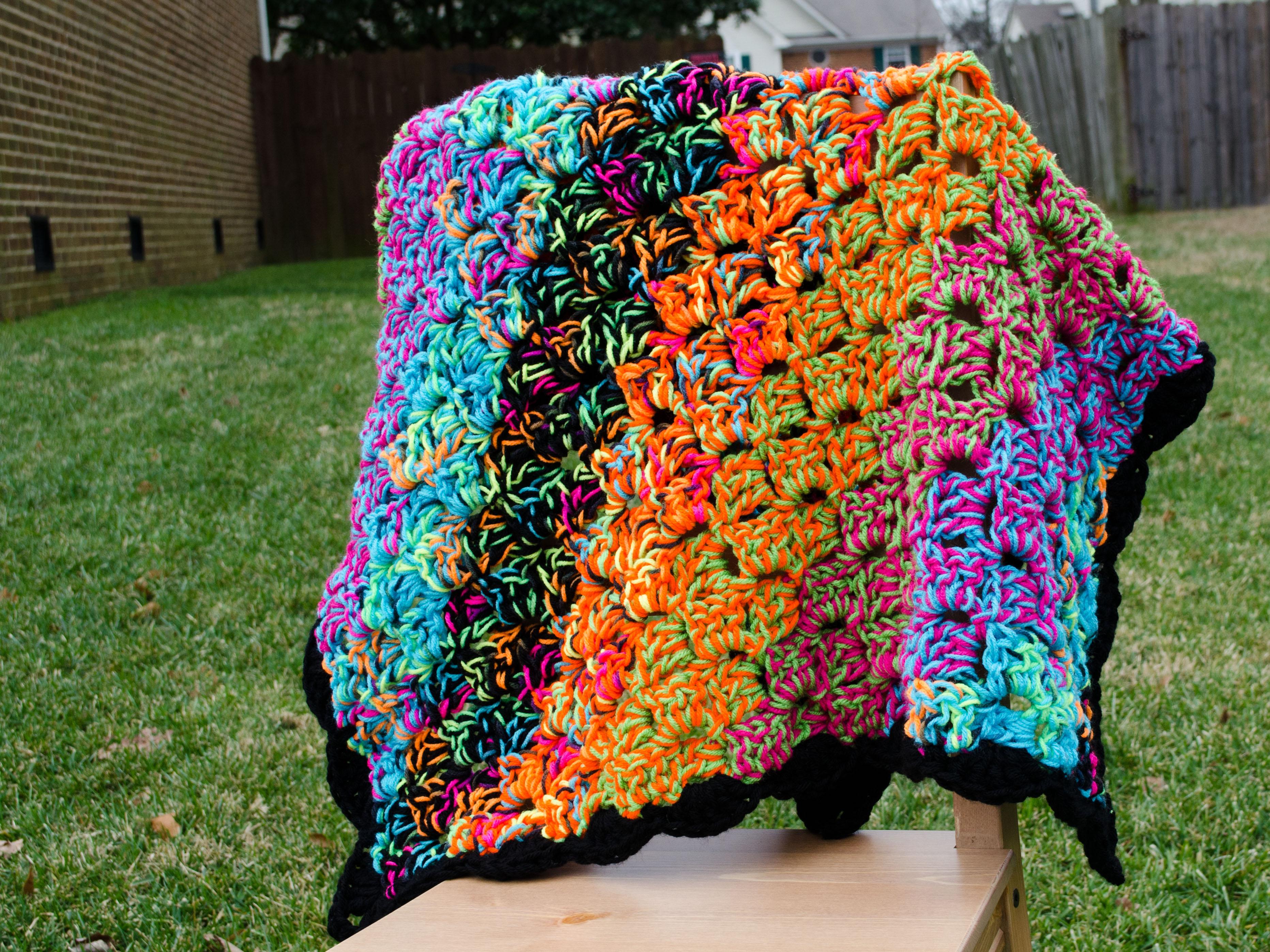 Psychedelic Lap Blanket On Storenvy