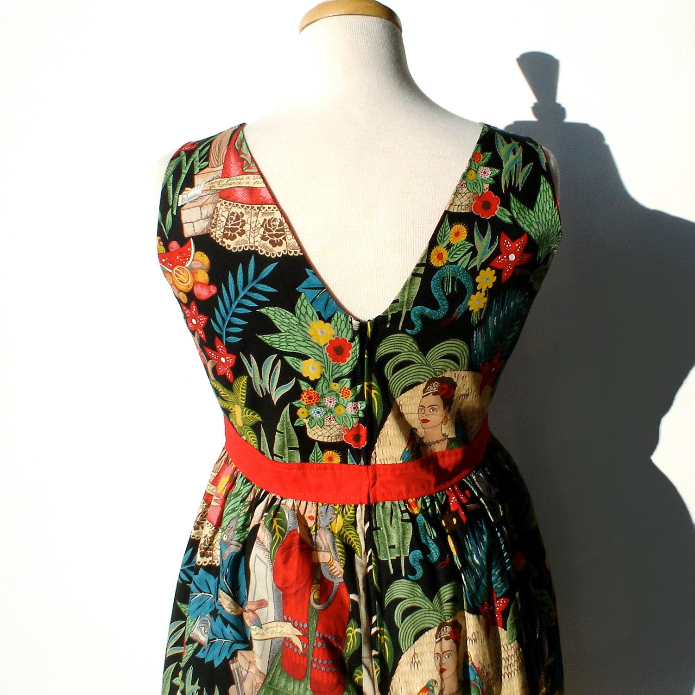 kleider run & fly indie retro vintage 50's stil tee kleid