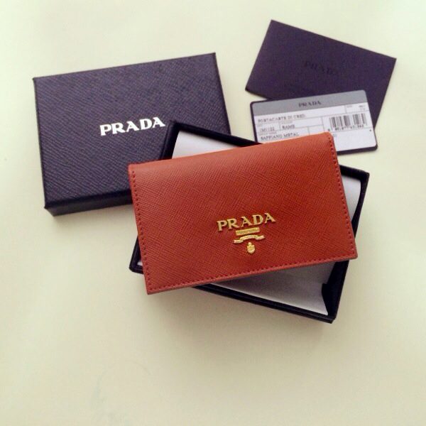 c3c5ddb4 PRADA Saffiano Rame Card Holder from the little green suitcase