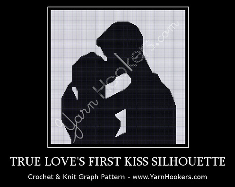 True Love S First Kiss Silhouette Afghan Crochet Graph