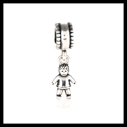 5faeb6be4 AUTHENTIC PANDORA Boy Dangle .925 Sterling Silver European Charm Bead - Item  No. 790859