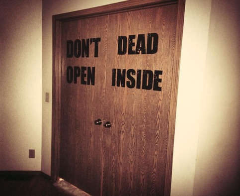 Don T Open Dead Inside The Walking Dead Inspired Vinyl Wall Decal On Storenvy