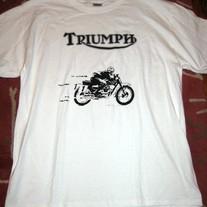 836d3889e610 Bob Dylan HWY 61 Triumph Motorcycle T Shirt on Storenvy