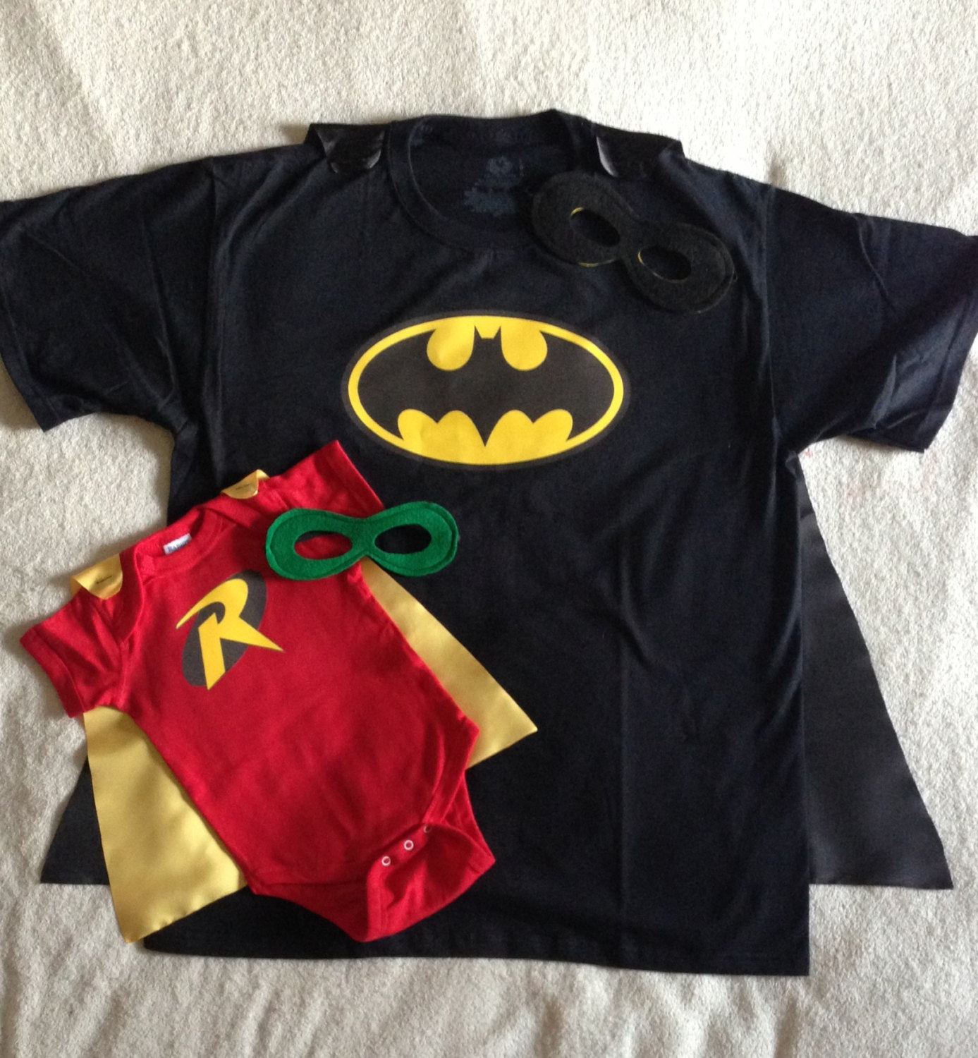New Dad Gift Set Or New Big Brother Batman And Robin T Shirt With