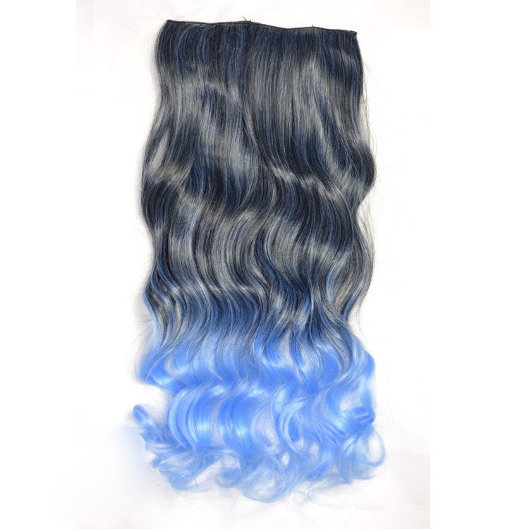 Greyblue Ombre Dip Dye Hair Extension On Storenvy