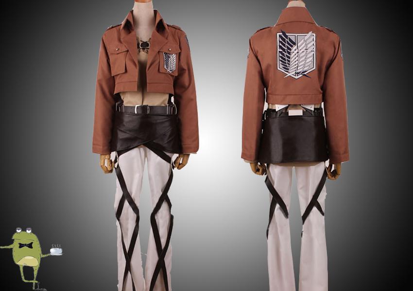 Attack on Titan Survey Corps Eren Jaeger Cosplay Costume ...