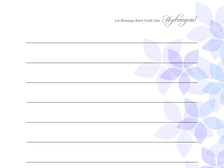 photograph regarding Letter Paper Template known as Hydrangea Printable Letter Paper (3 PDF Template plans) against Nauxelle
