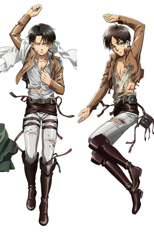 Brand New Levi And Eren Attack On Titan Dakimakura