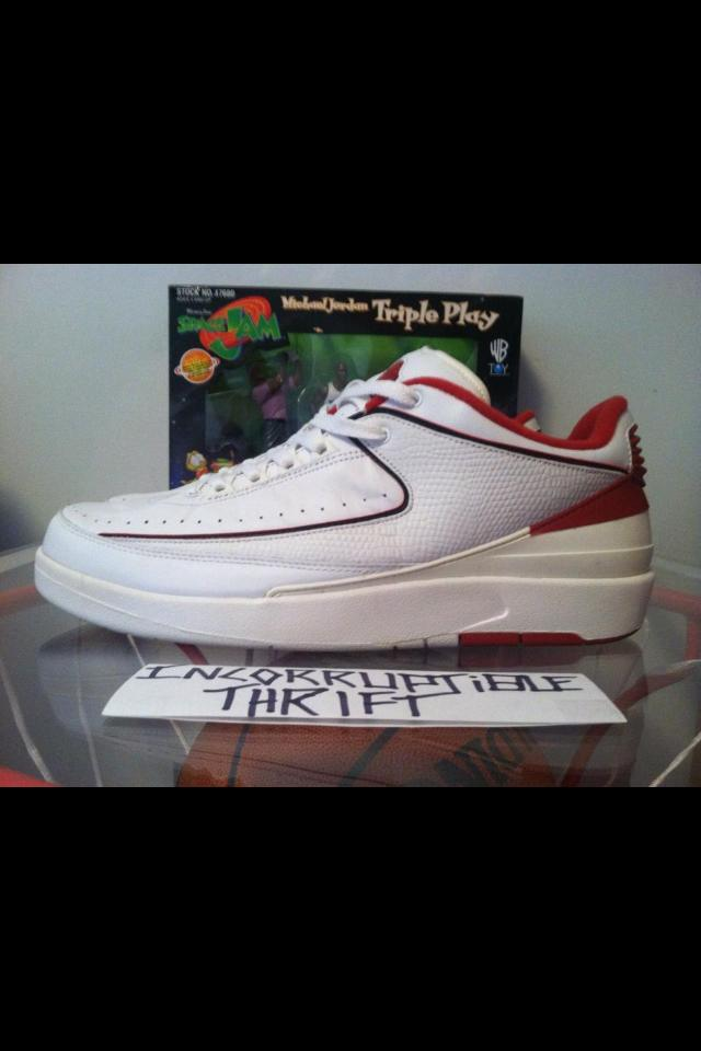 08730edb11c Air Jordan white/red low 2s size 13 · Incorruptible Thrift Shop ...