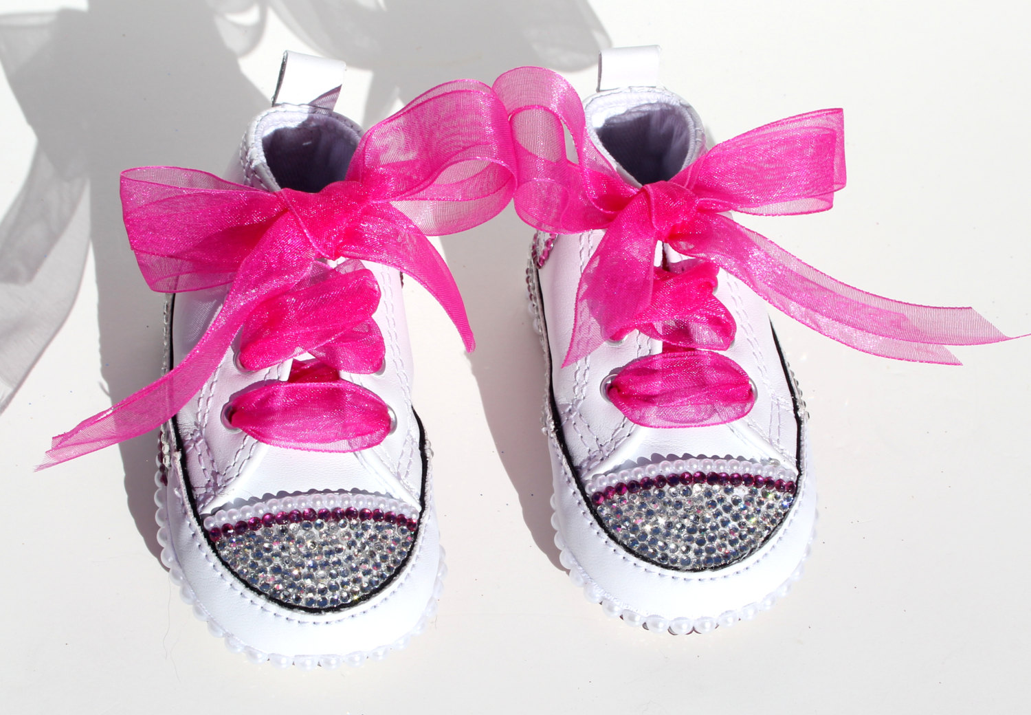 Converse Crib Shoes with Swarovski Crystals and Pearls on Storenvy 798be9d458