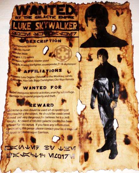 Luke Skywalker Wanted Poster 8x11 On Storenvy