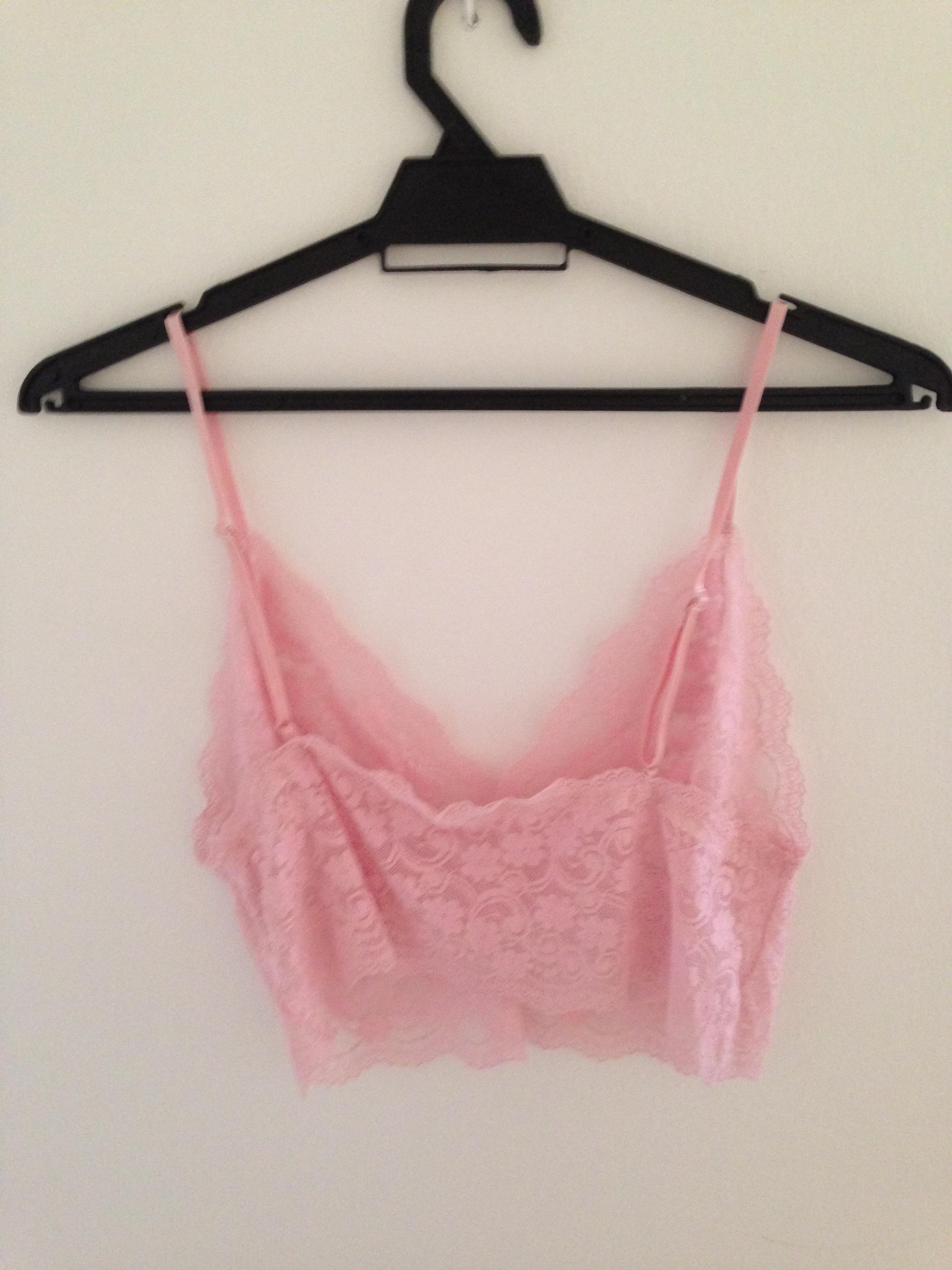 4bbe368251049 Vintage Pink Lace Bralette on Storenvy