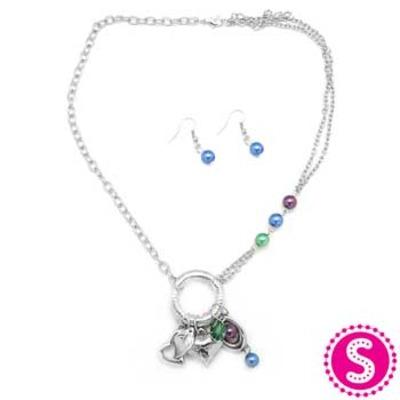 Paparazzi Blue And Silver Necklace Set The Epic Boutique Online