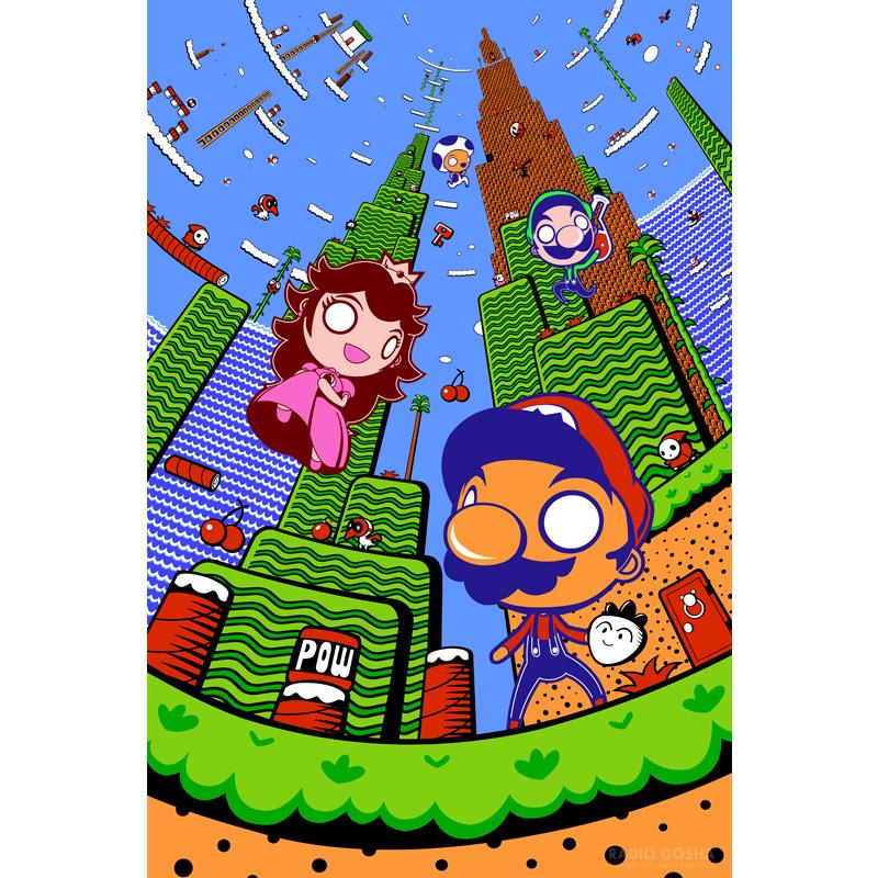 Super Mario World Christmas.The 8 Bits Of Subcon Super Mario Bros 2 Print