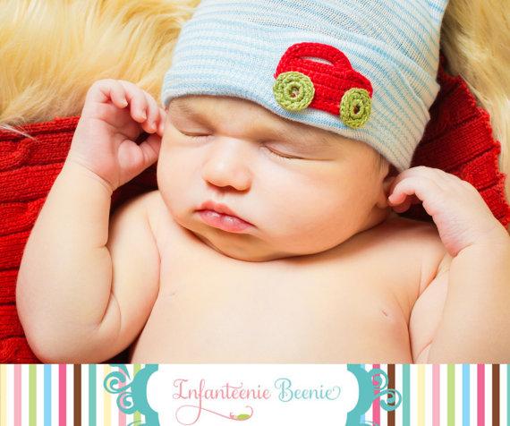8c732fa4bbb Newborn Bow Hospital Hat
