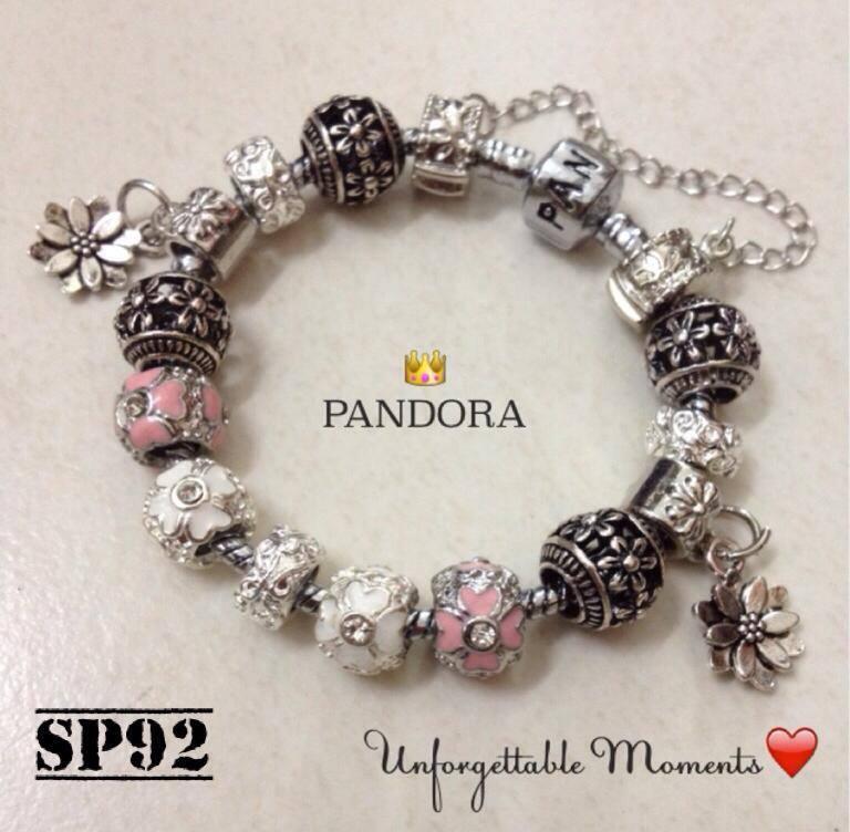 80598bba6 AUTHENTIC PANDORA CHARM BRACELET PINK LOTUS FLOWER SP92 · Pandora ...