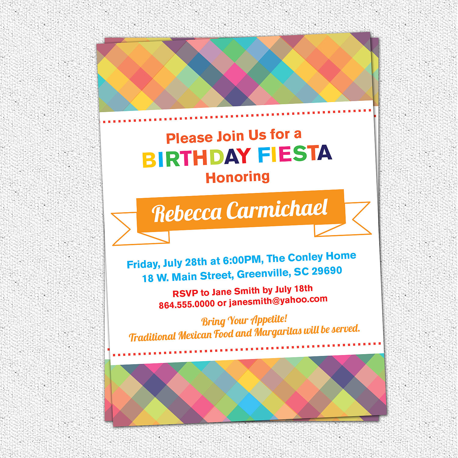 Cinco de Mayo Mexican Fiesta Birthday or Party Invitation, Rehearsal ...