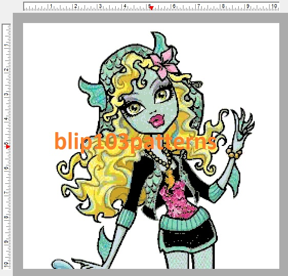 Monster High Lagoona Blue Counted Cross Stitch Pattern on Storenvy