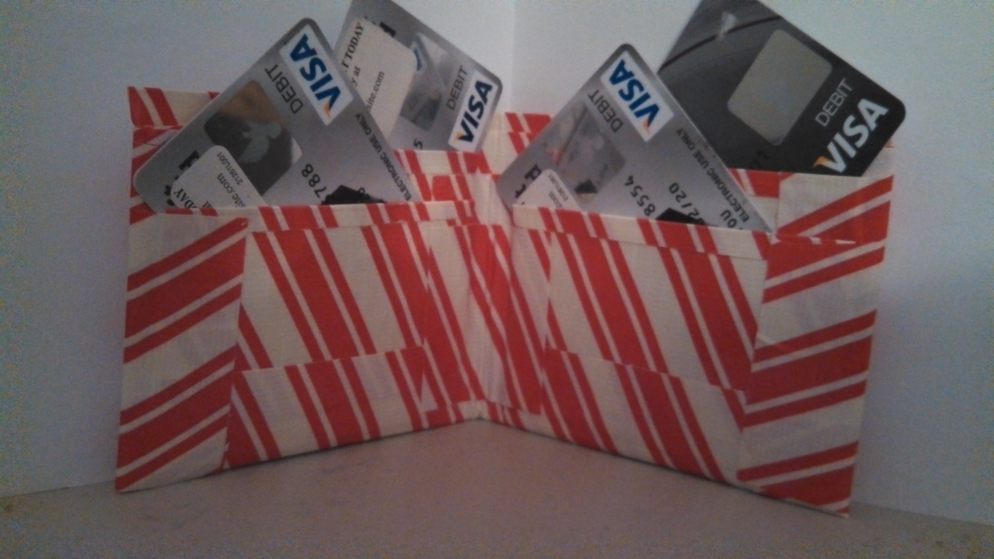 Candy Cane Duct Tape Wallet 183 Hey Duct Tape Guy 183 Online