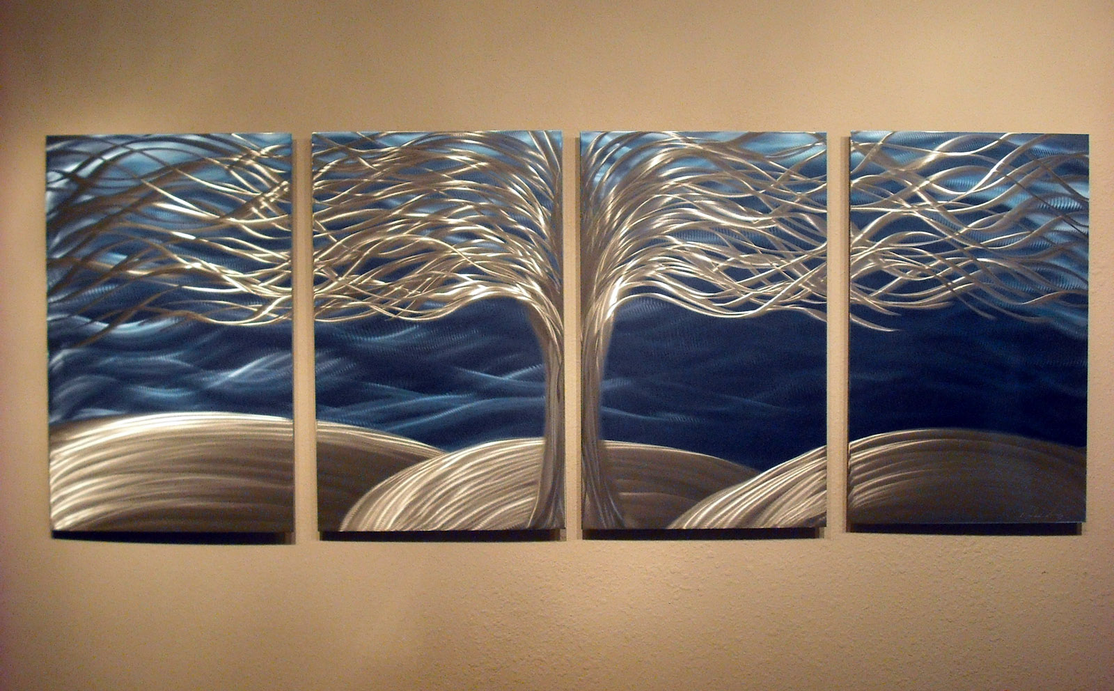 Tree of Life- Metal Wall Art Abstract Contemporary Modern ...