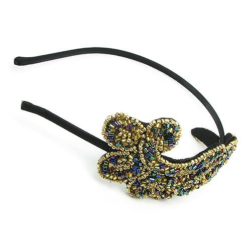 Vintage Bling Phoenix Wing Angel Beads Hair Band Claw Headband ... 169fdcfcb8d
