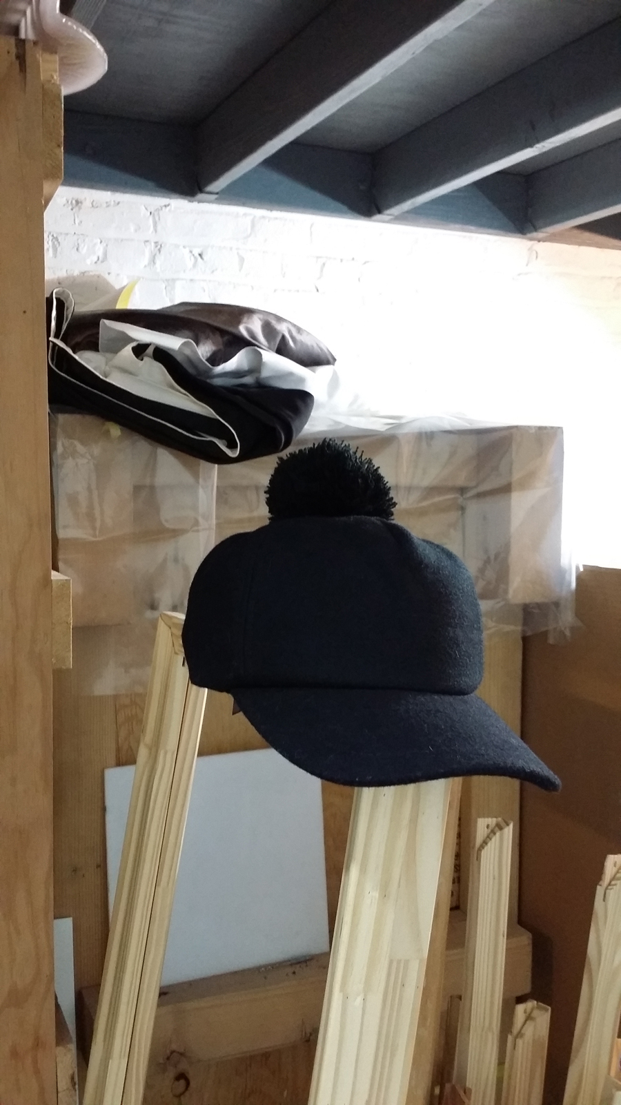 589b17a345a fuzzy black pom pom hat snap back · sakurasale · Online Store ...