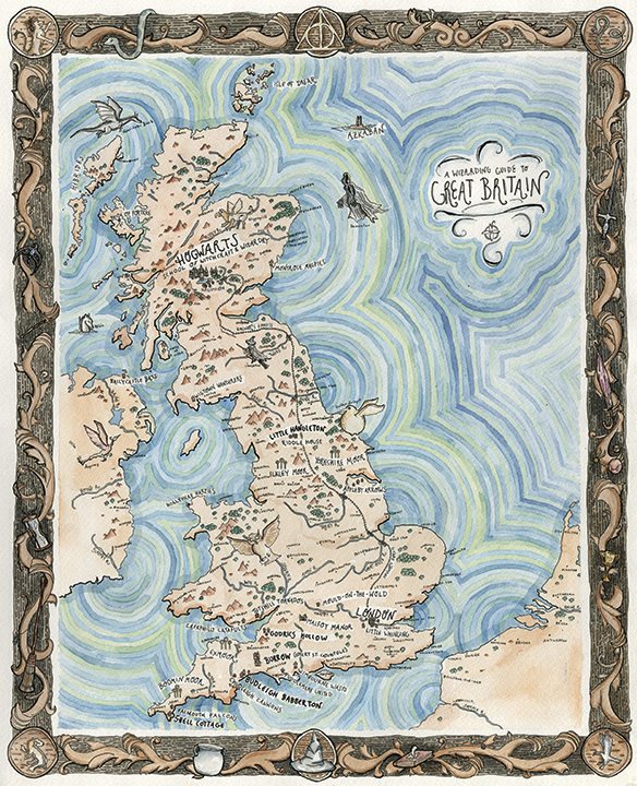 Broke Friends A Wizarding Guide To Great Britain Map Online