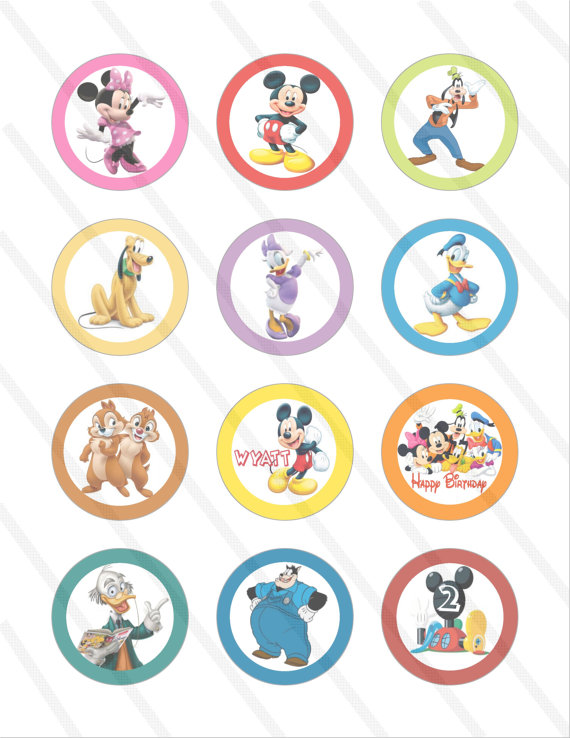 Disney Mickey Mouse Clubhouse Printable Cupcake Toppers ...