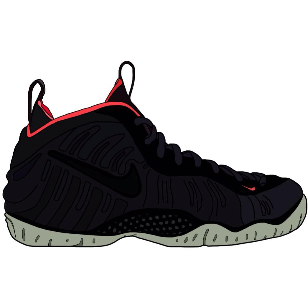 460e0125b4ba Nike Foamposite Stickers · Kartoon Kicks · Online Store Powered by ...