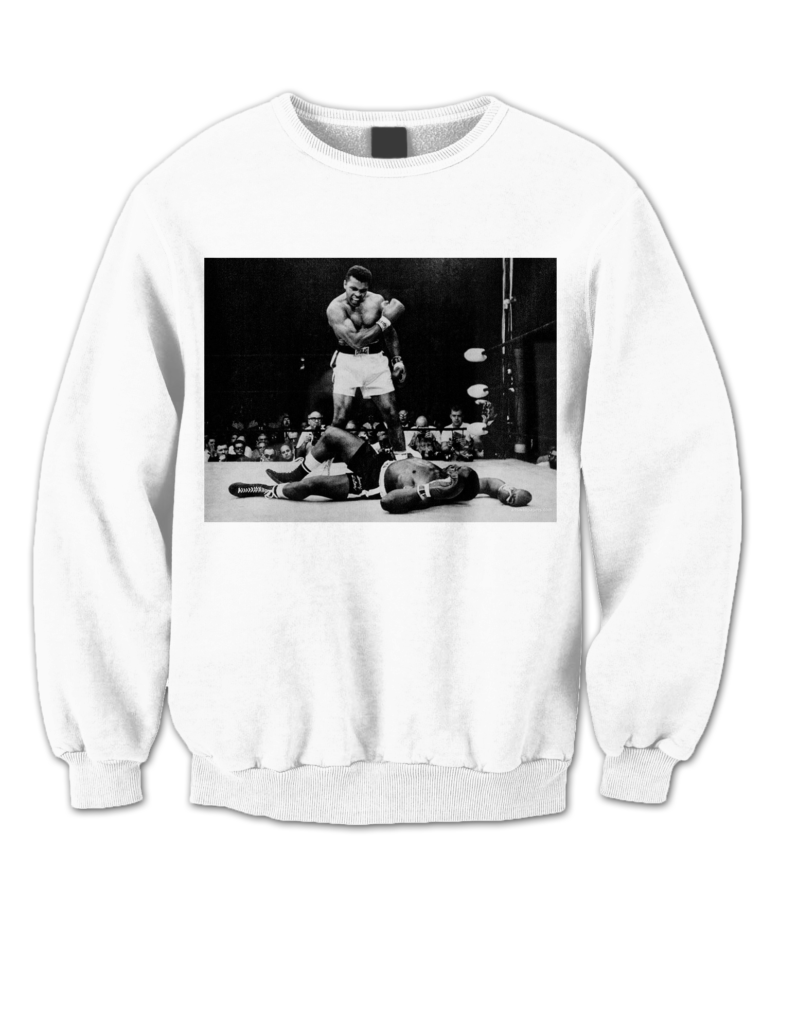 ali sweatshirt ali vs liston shirt muhammad ali knock out. Black Bedroom Furniture Sets. Home Design Ideas