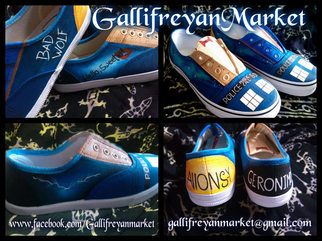 f9860b3250a846 Hand Painted Shoes Inspired by Doctor Who (Vans