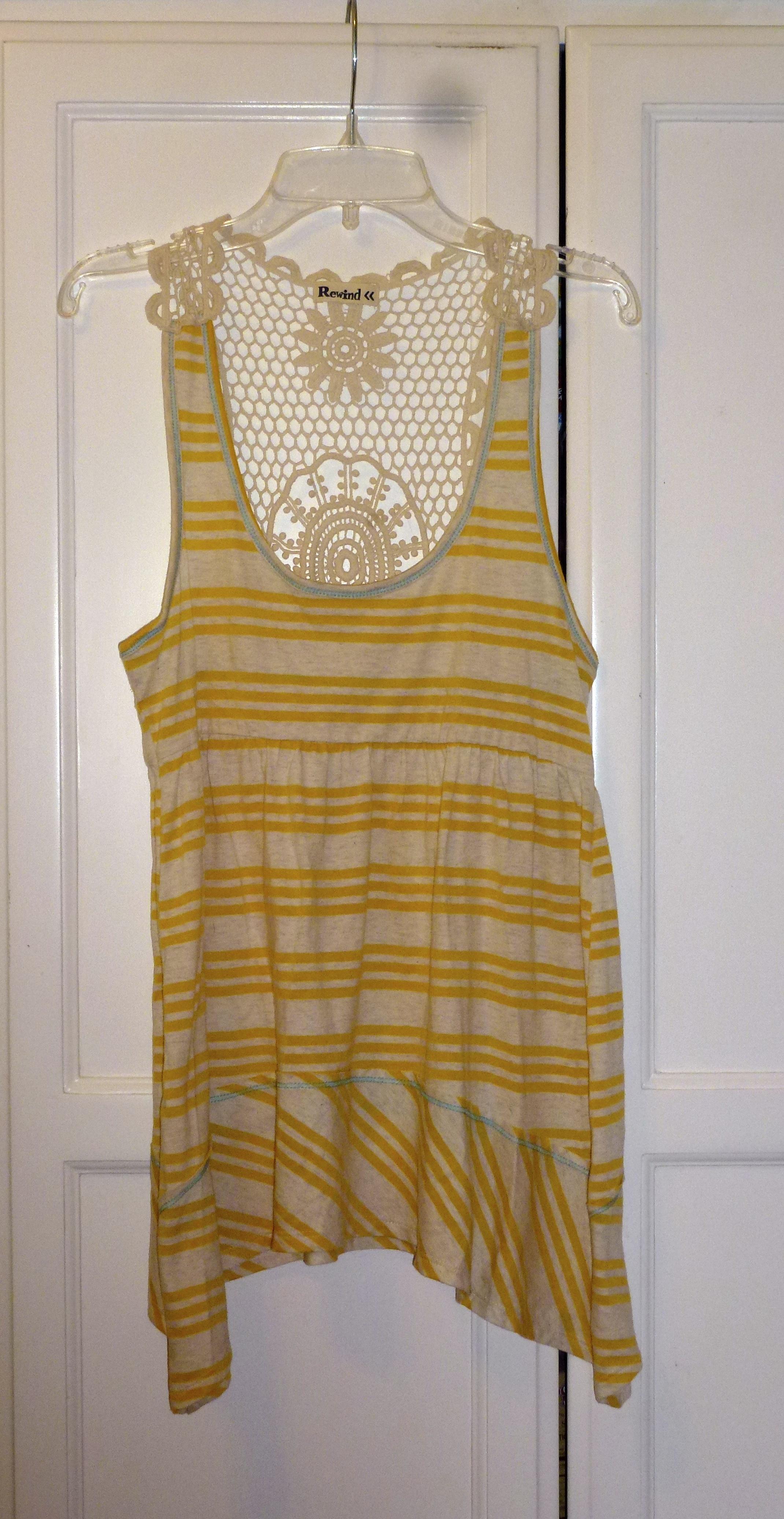 13e400a3effdd Yellow Crochet Tank Top on Storenvy