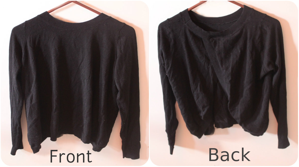 4769816ab4 black sweater with open back on Storenvy