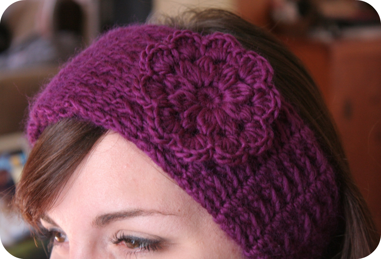 Crochet Pattern Headband Women Hat Pdf Pretty Flower The Cristina On