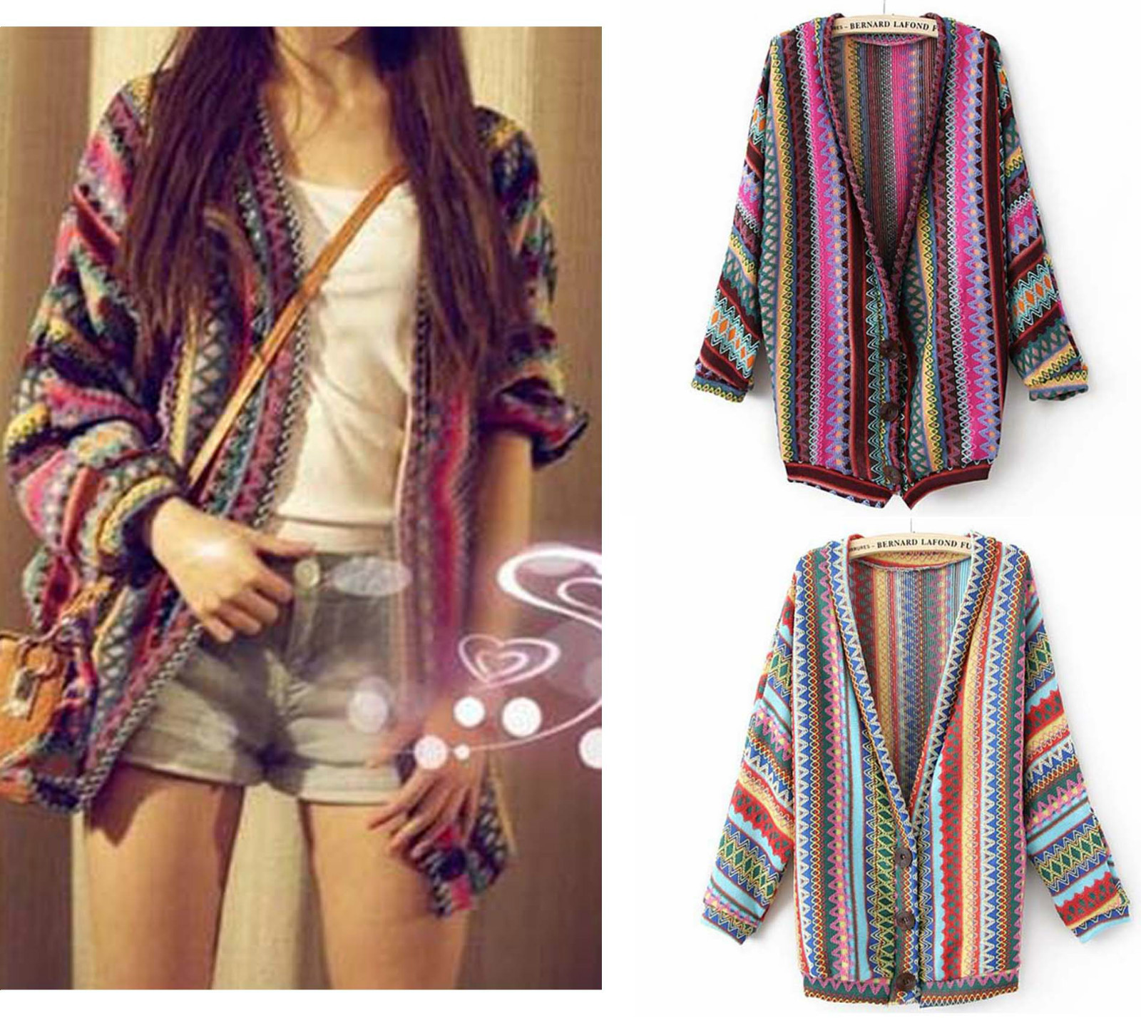 d90cc6e3fc5a Boho Knitting Sweater Oversized Cardigan · Mad Bargains · Online ...