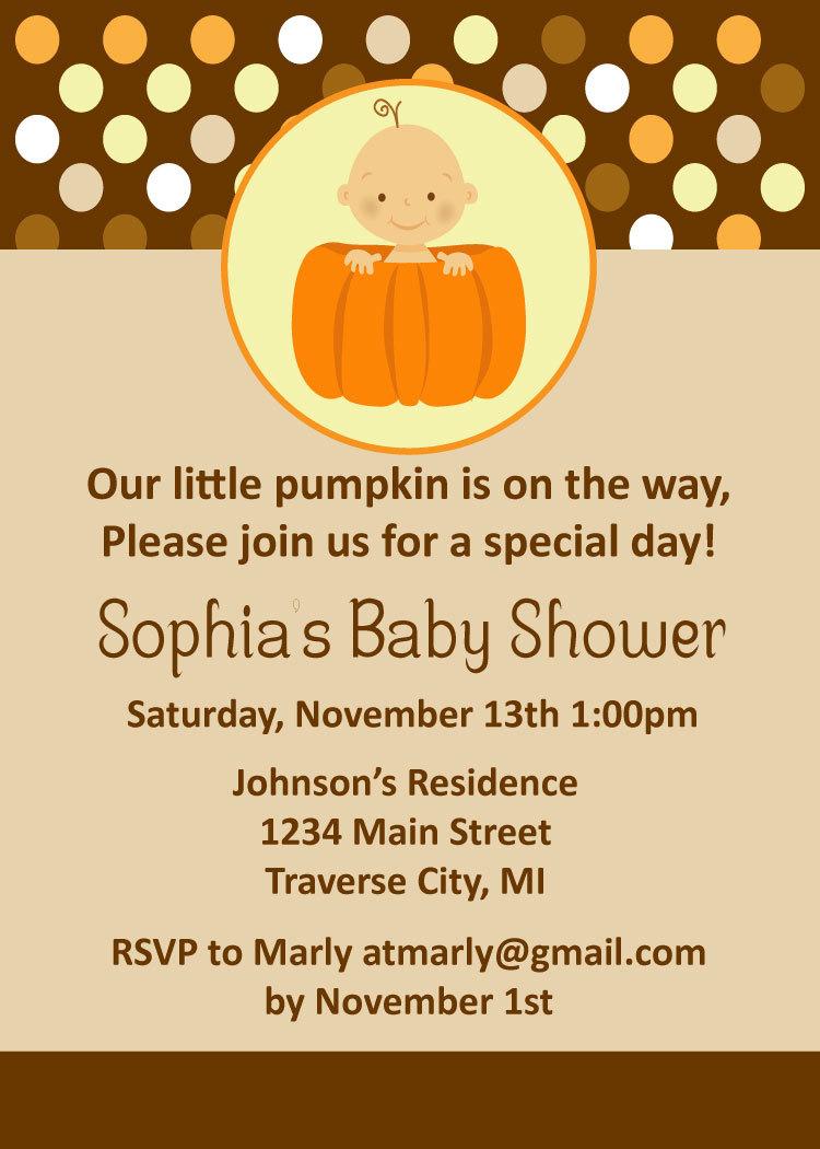 Pumpkin baby shower invitations fall baby shower invitation for pumpkin baby shower invitations fall baby shower invitation for boy girl or twins filmwisefo