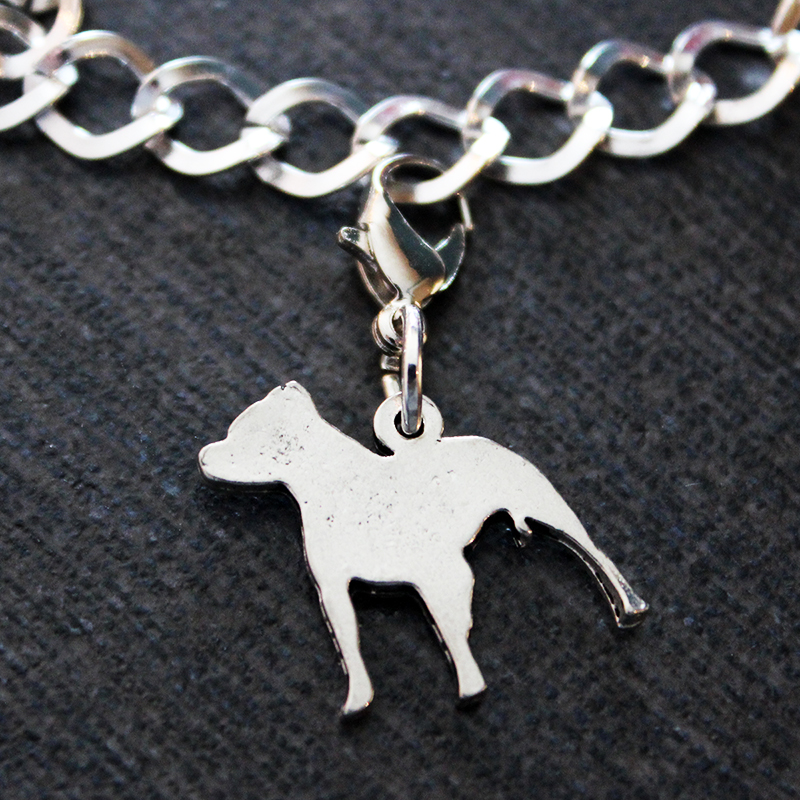2a0a6c61c57 Pewter Pit Bull Charm · Larry The Dog