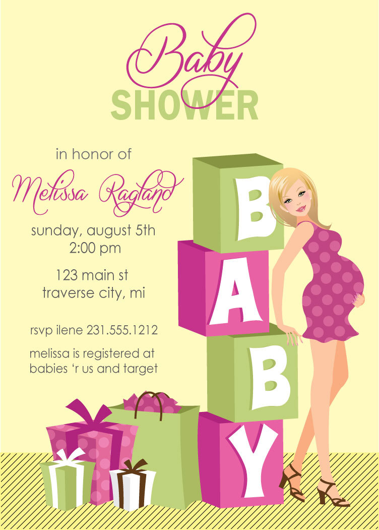 Blocks baby shower invitations girl baby shower invites blocks baby shower invitations girl baby shower invites available in african american filmwisefo