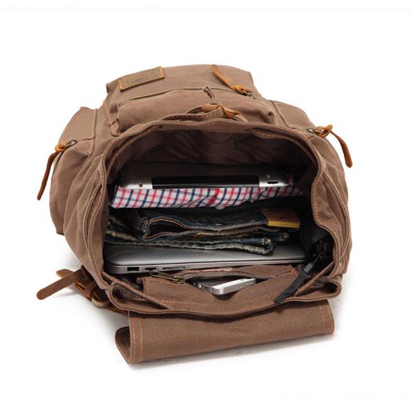 507631e3e2 Useful Vintage Brown Scrub Canvas Backpack on Storenvy
