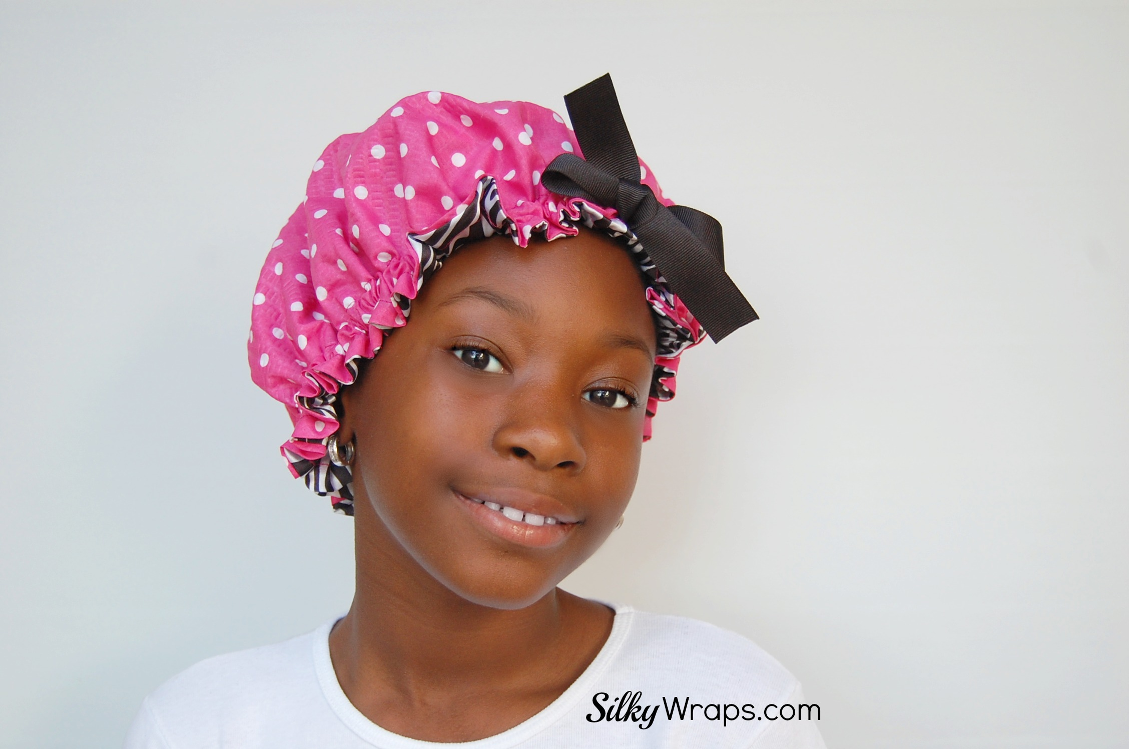 Kids Sleep Bonnet Pink Polka Dot On Storenvy