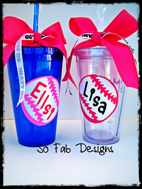 Customized Baseball Or Softball Tumbler 20 Oz Sports