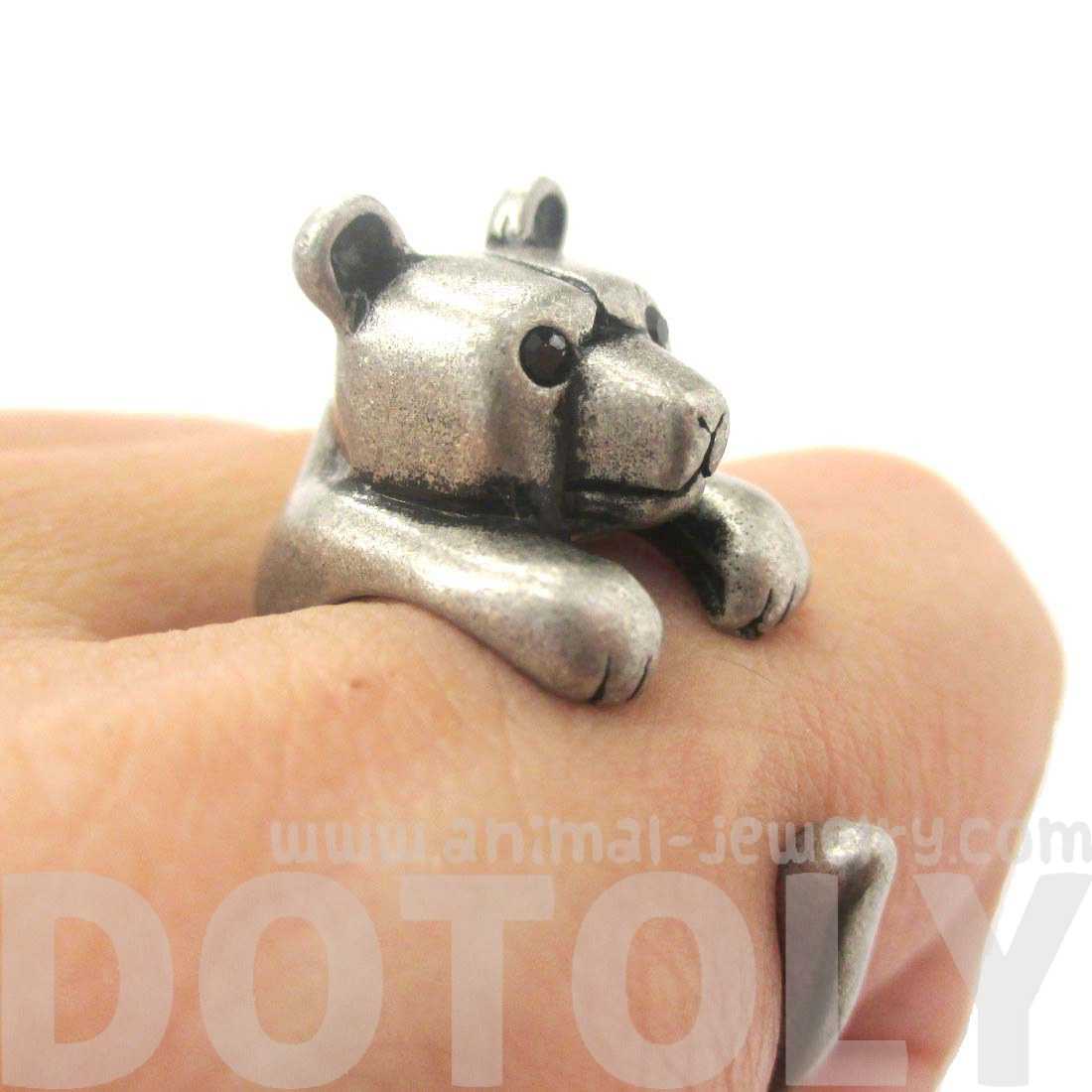 Bear In Hing Reng 2: Animal Wrap Rings Fake Gauge Earrings