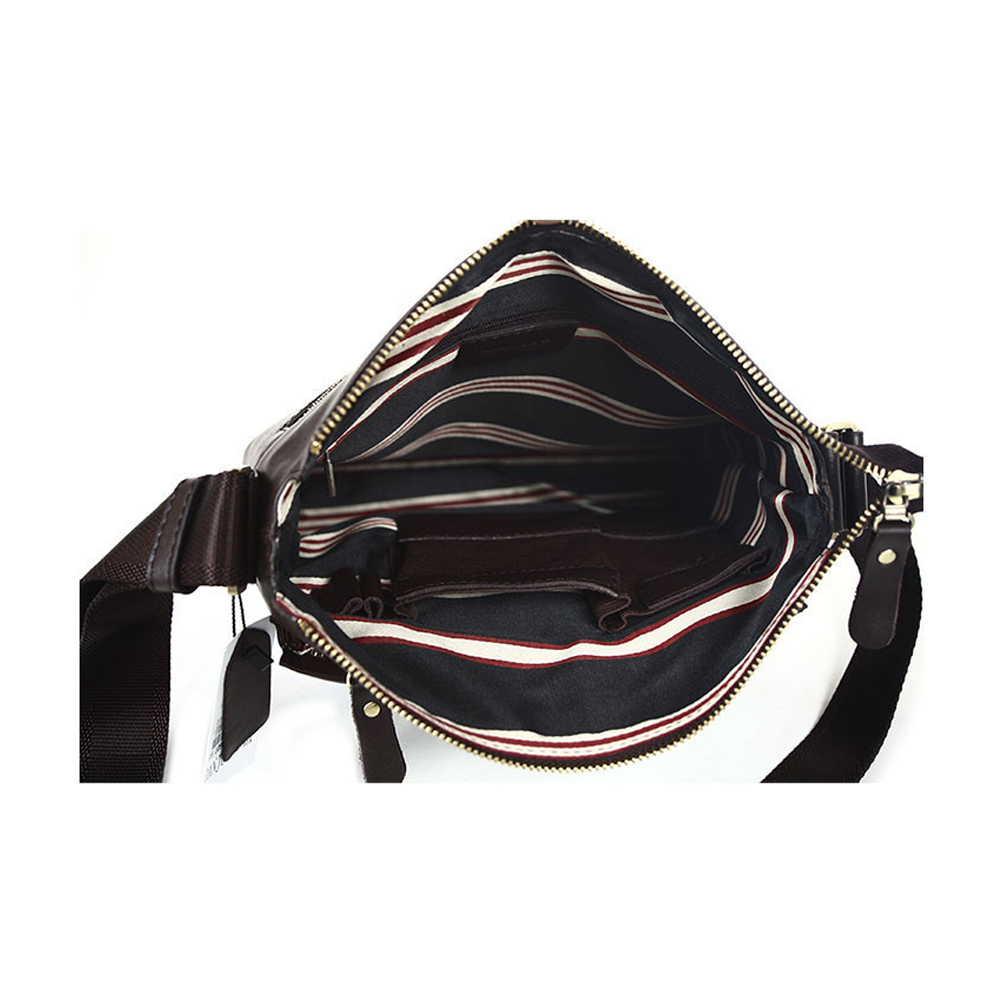 f06c5221933c ... Men s Cowhide Leather Workbag City Courier Bag Messenger Crossbody Bag  Tablet Bag-Brown - Thumbnail ...
