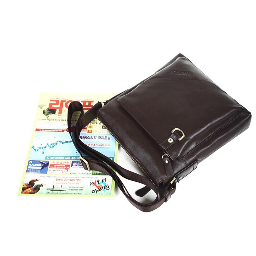 43118bfc7ad1 ... Men s Cowhide Leather Workbag City Courier Bag Messenger Crossbody Bag  Tablet Bag-Brown - Thumbnail